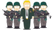 Commander Garett and US Marines (Towelie)