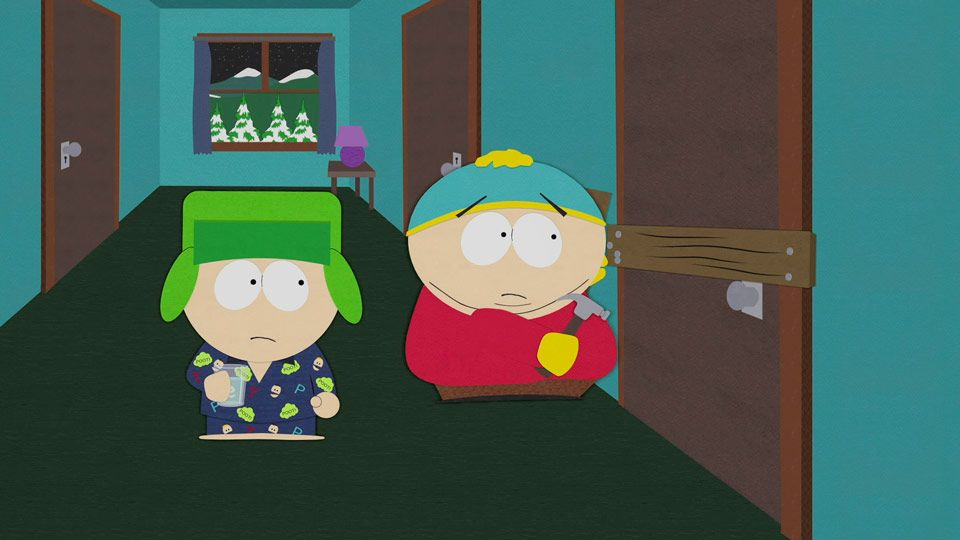 Cartman Boards In Kyle (Season 7 - episode 13 - Butt Out)