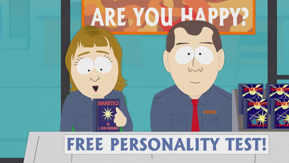 Free Personality Test (Season 9 - episode 12 - Trapped in the Closet)