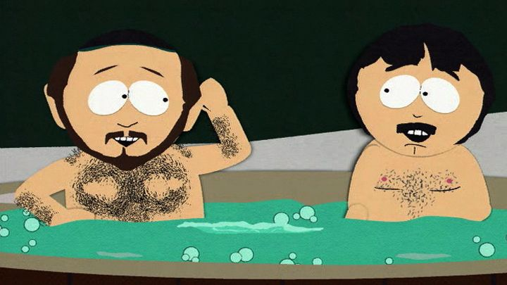 Two Guys Naked in a Hot Tub - Season 3 Episode 8 - South Park