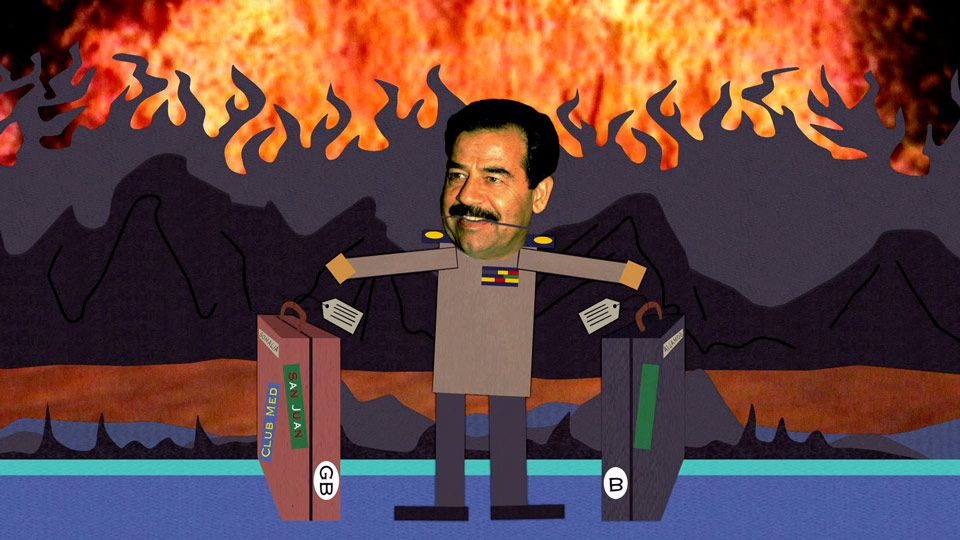 Saddam's Back in Hell (Season 4 - episode 10 - Do the Handicapped Go to Hell?)