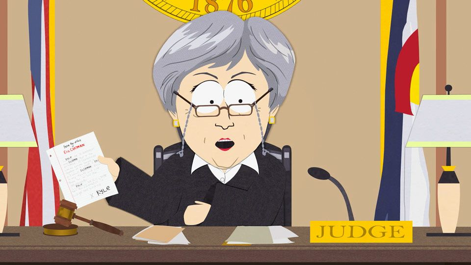 The Justice System & Cartman's Balls (Season 11 - episode 10 - Imaginationland)